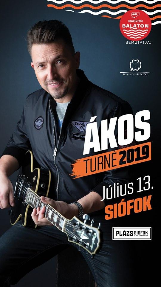 Programajánló: Ákos – Turné 2019 – Siófok – július 13.