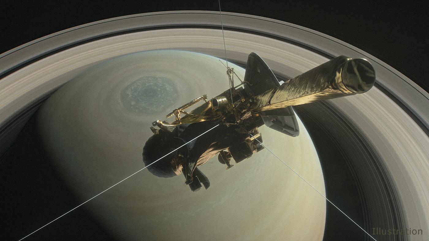 """A végső, megsemmisítő """"nagy ugrás"""" felé tart a Cassini űrszonda"""