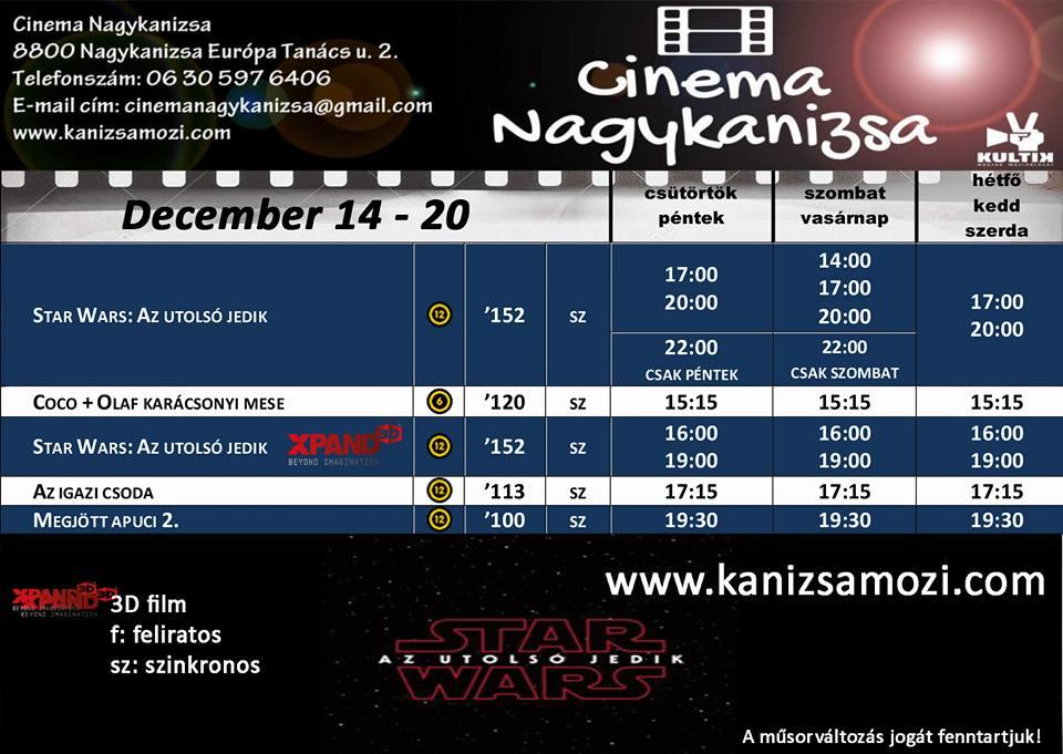 Moziműsor december 14-től 20-ig