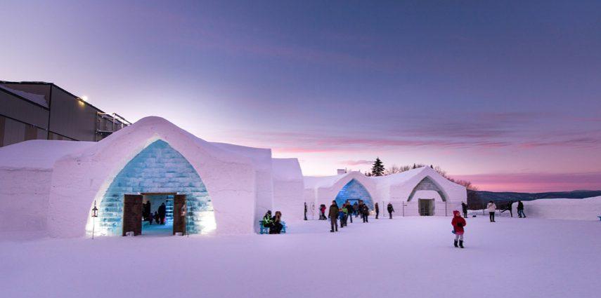 Jégből és hóból épült hotelek