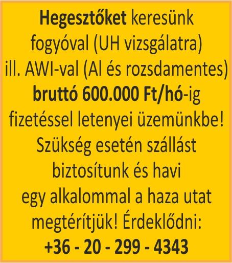 Antal Kft. hirdetése