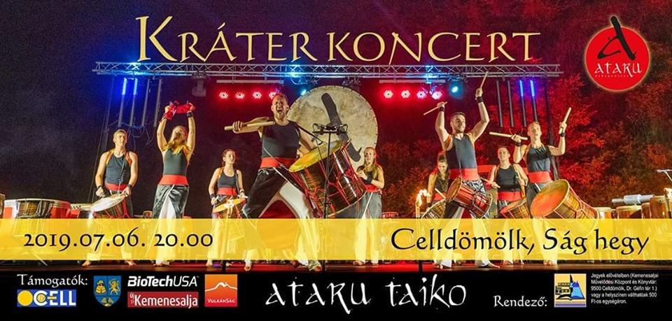 Programajánló: Japán dobszínház – Ataru Taiko koncertje – Celldömölk – július 6.