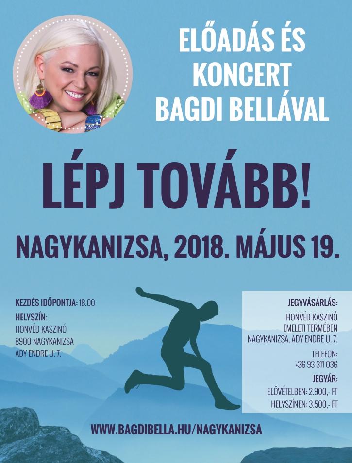 Lépj Tovább! – Előadás és koncert Bagdi Bellával