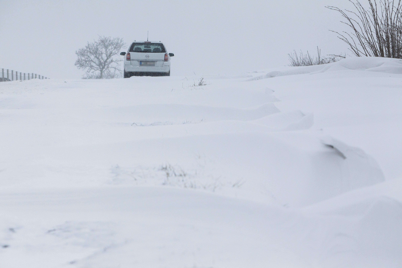 Hófúvás Zala megyében