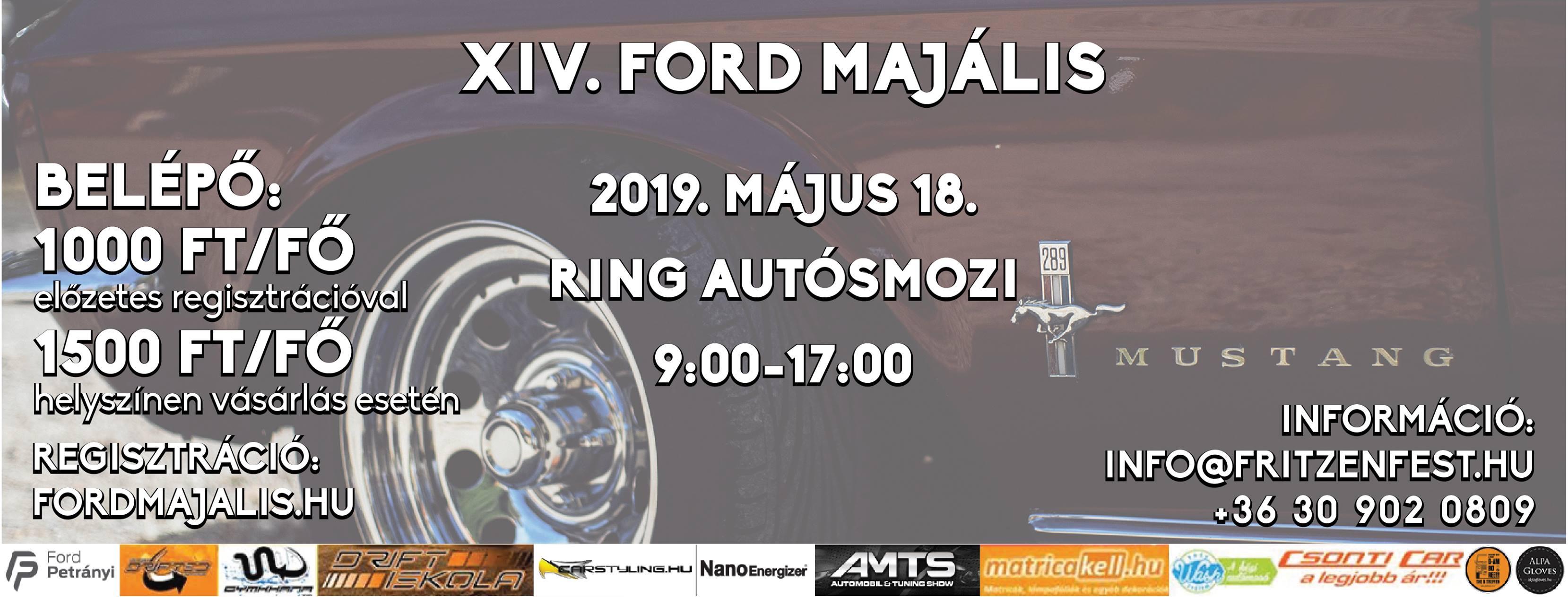 XIV. Ford Majális – Mogyoród – május 18.