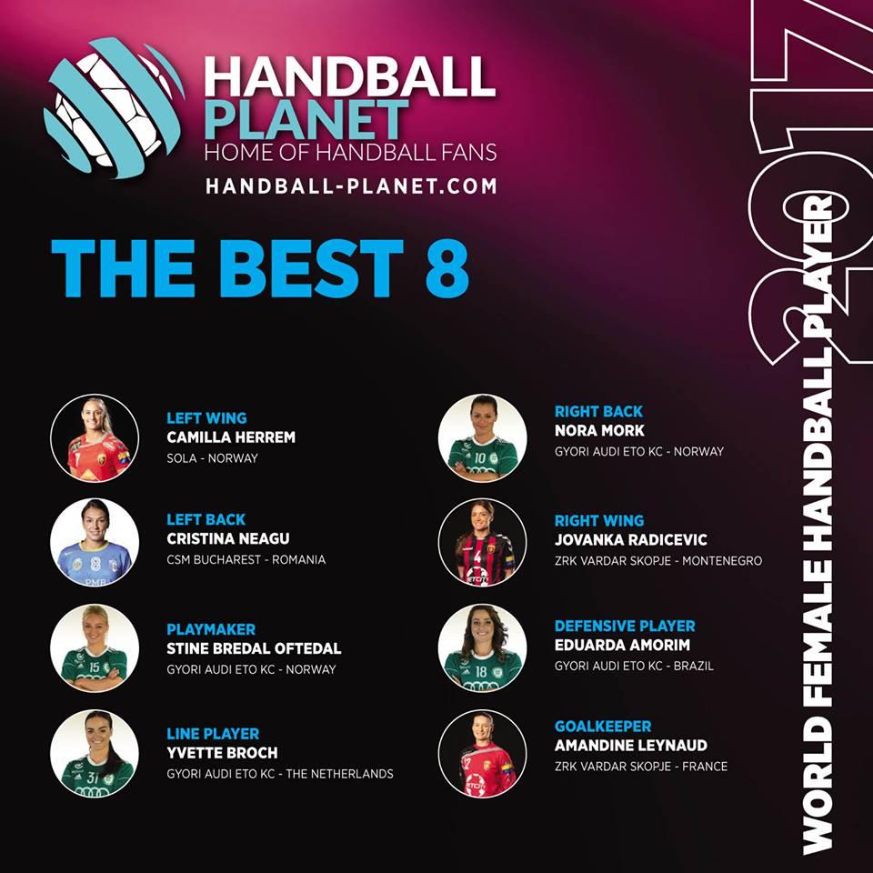 Négy Győri Audi ETO KC játékos a Handball Planet ALL STAR csapatában