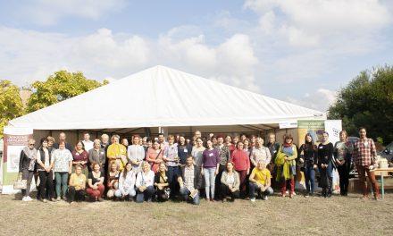 Gyerekek tanulják a biokertészkedést az iskolai ökokertekben