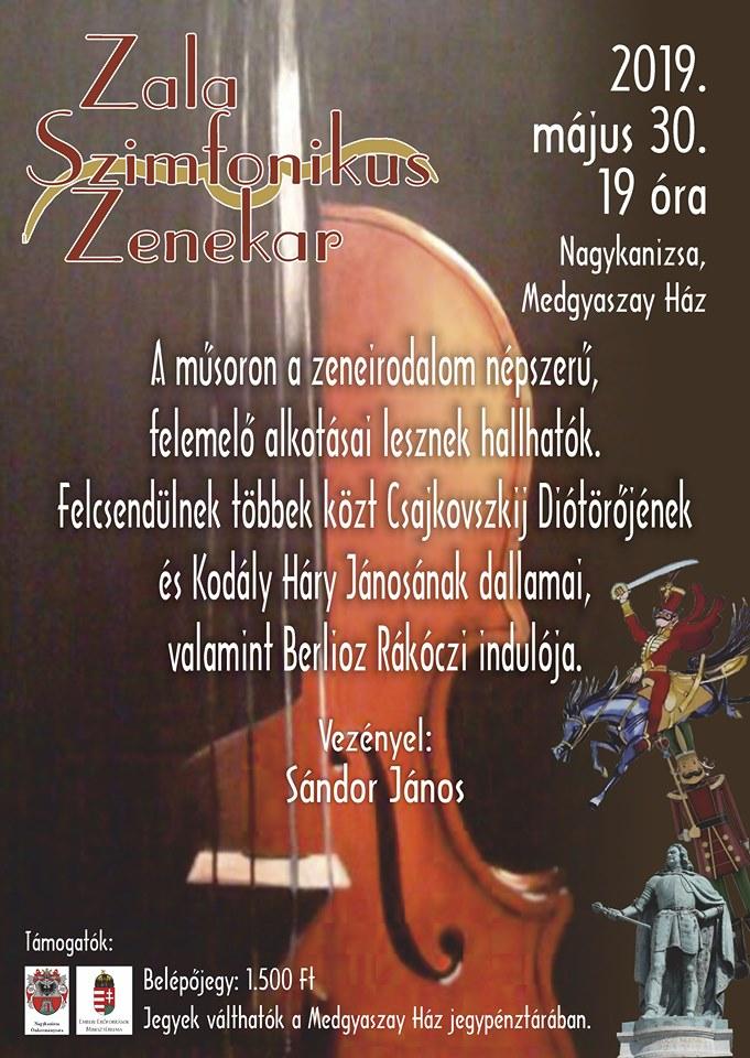 A Zala Szimfónikus Zenekar koncertje Nagykanizsán