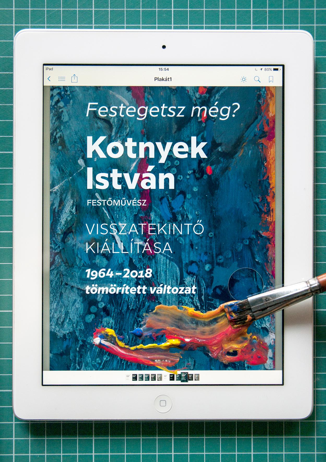 Meghívó Plakát Ház Kotnyek István kiállítás