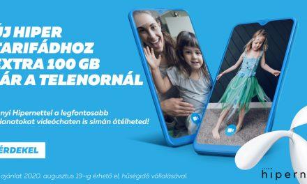 Extra 100 GB Hipernet vagy duplázott adatkeret jár a Telenor nyári promóciójában