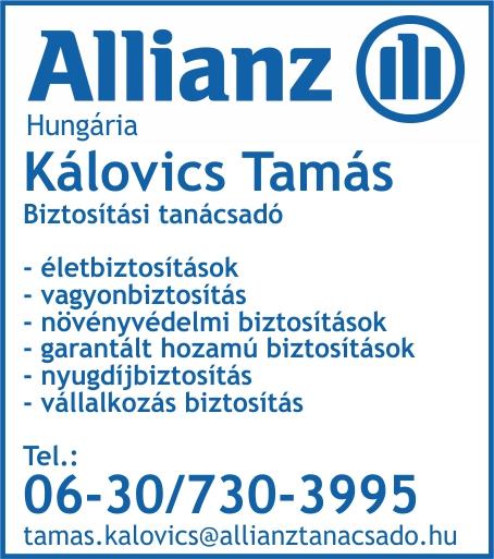 Kálovics Tamás – Biztosítási tanácsadó hirdetése