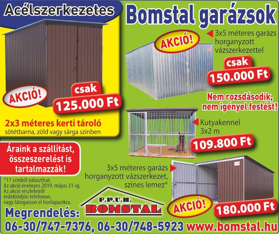 Bomstal Mobilgarázs Gyártó hirdetés