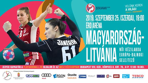Női Kézilabda Eb-selejtező 19:00 Magyarország-Litvánia 2019. szeptember 25. szerda (Élő Tv: M4 Sport)