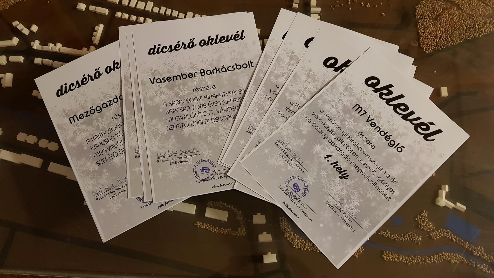 A kirakatokat díjazták Letenyén