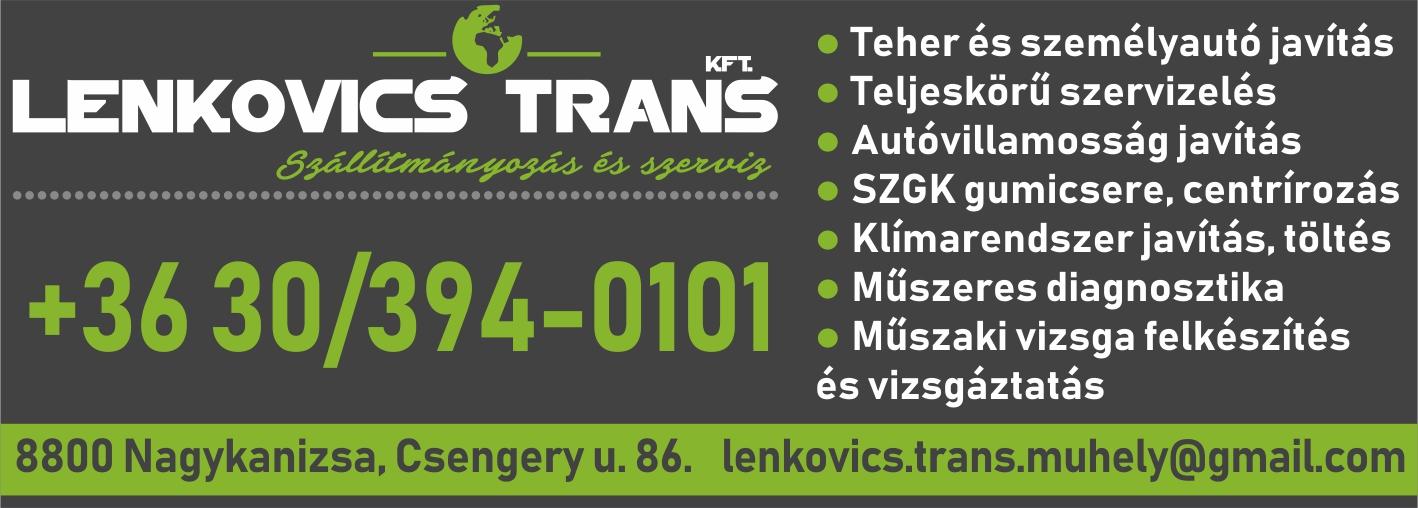 Lenkovics Trans Kft. hirdetése