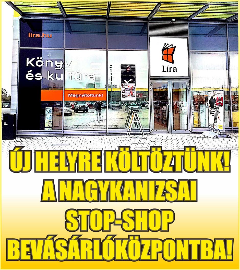Líra Könyvesbolt Nagykanizsa hirdetése