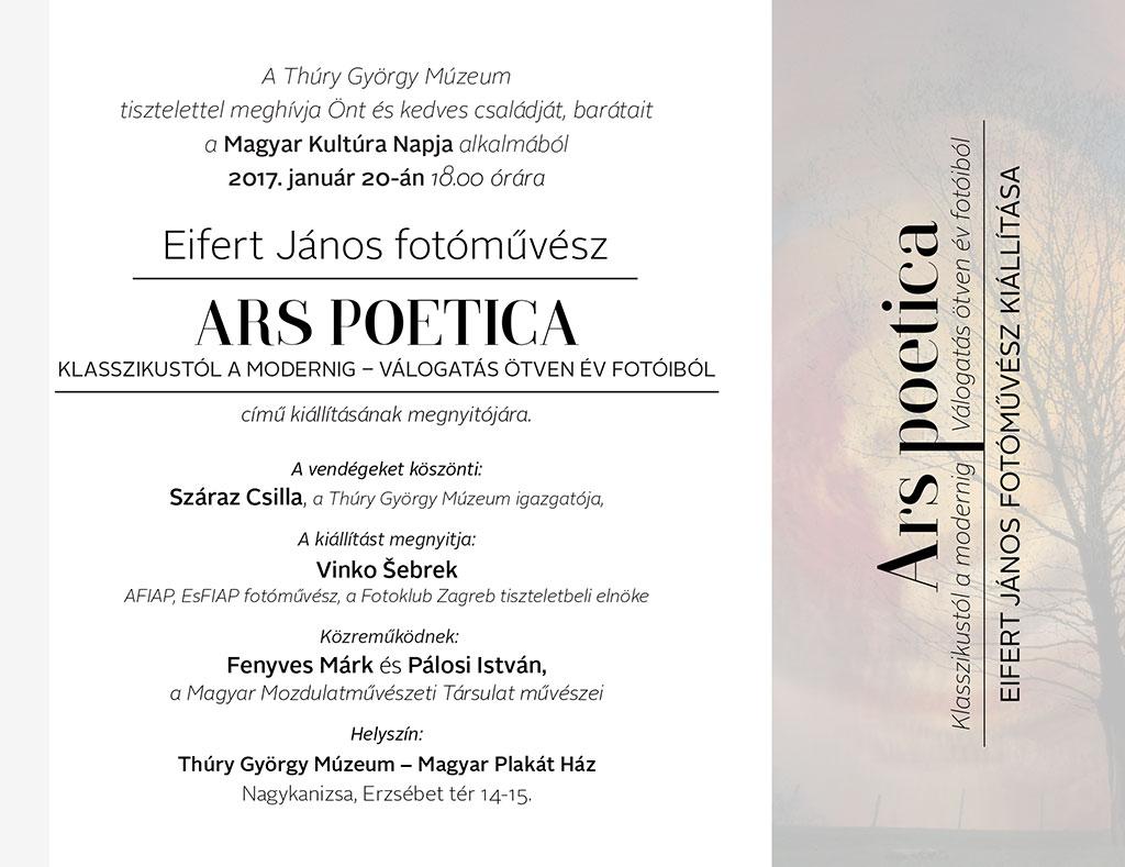 Meghívó: Olasz Ágnes fotóművész kiállítása a Plakát Házban
