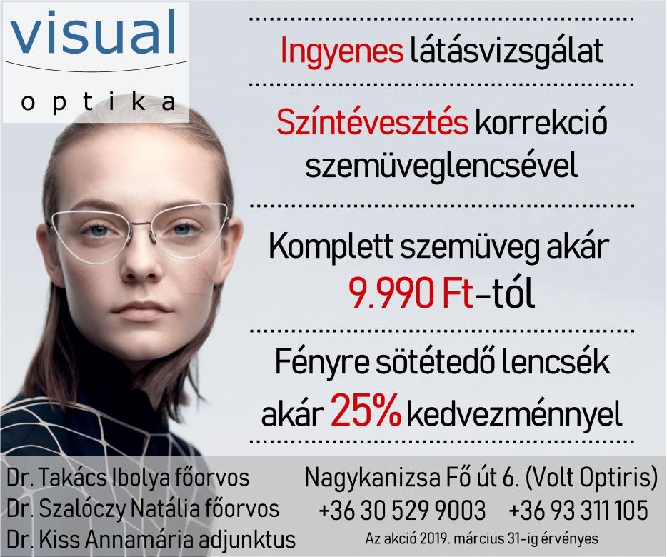 Visual Optika hirdetése