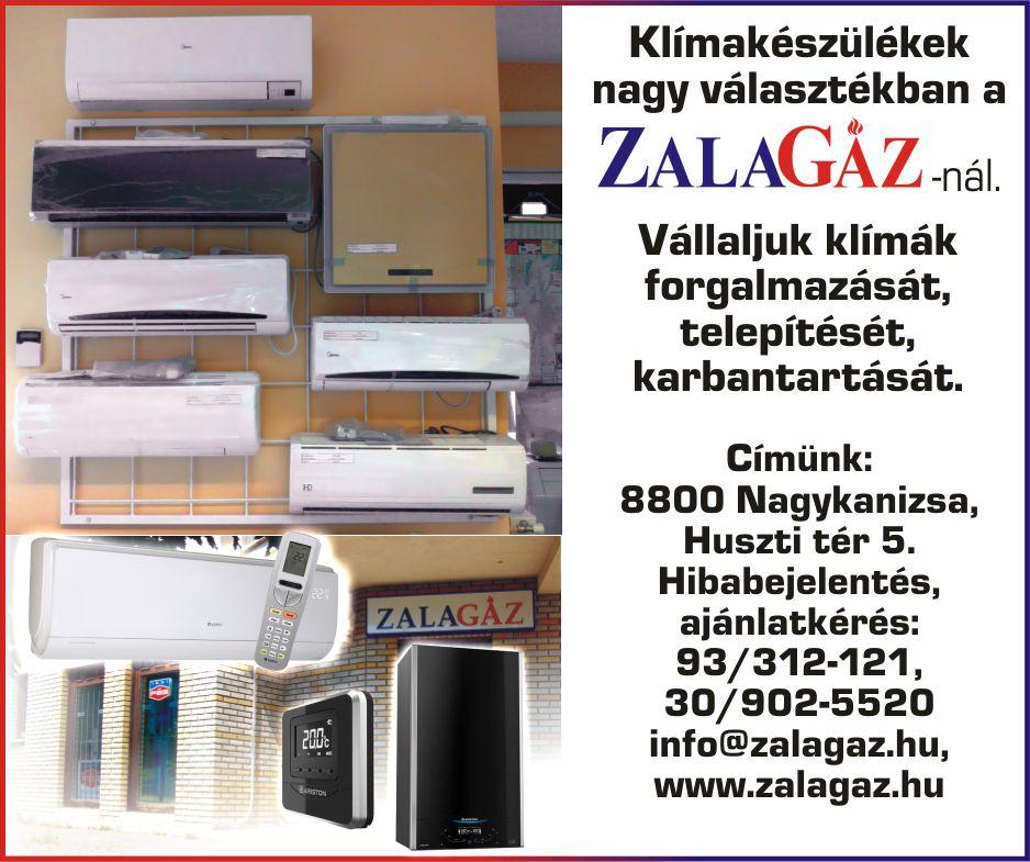 Zalagáz Kft. hirdetése